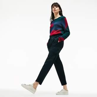Lacoste Women's City Jog Regular Fit Striped Stretch Urban Jogging Pants