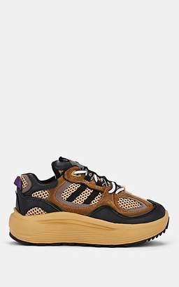 Eytys Women's Jet Mixed-Material Sneakers - Beige, Tan