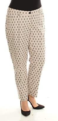 Anne Klein Women's Clipped Jacquard Slim Pant