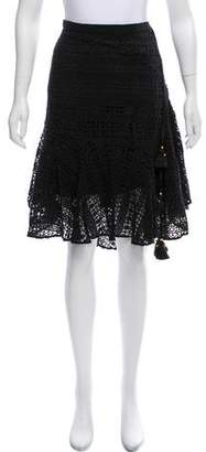 Figue Lace and Tassel Mini Skirt w/ Tags