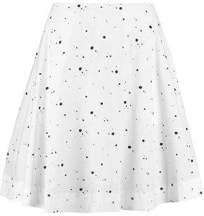Marc By Marc Jacobs Printed Cotton-Blend Mini Skirt