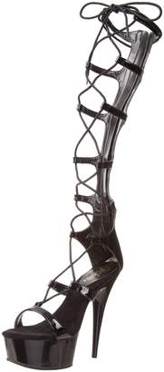 Pleaser USA Delight-698 5.75 Inch Stiletto Heel Lace-Up Platform Sandal Back Size 9
