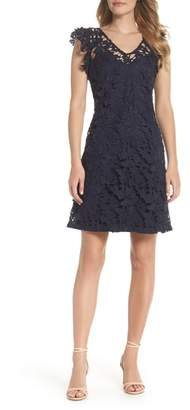 Julia Jordan V-Neck Lace Dress