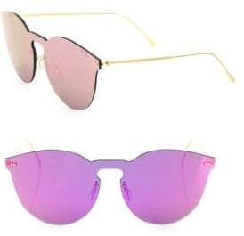 Illesteva Leonard II 50MM Mirrored Mask Sunglasses