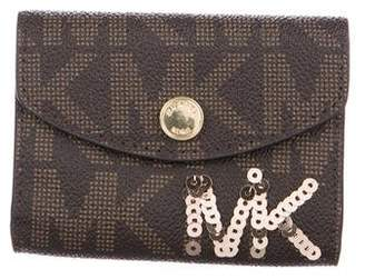 MICHAEL Michael Kors Leather Sequined Wallet
