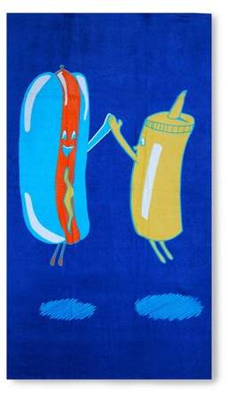 Picnic Friends Beach Towel Blue