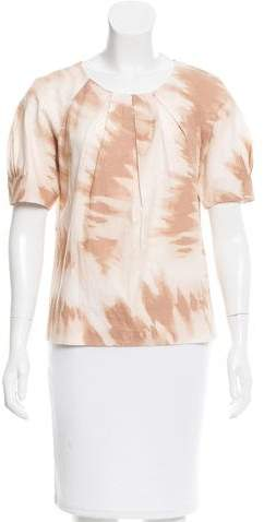 MICHAEL Michael Kors Michael Kors Abstract Short Sleeve Top