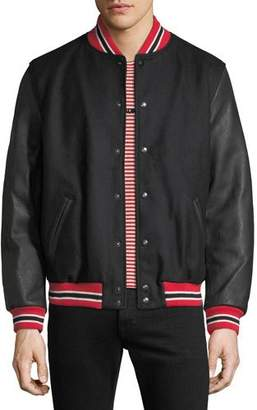 Palm Angels Men's Snap-Front Authentic Varsity Jacket