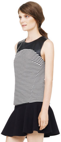 Club Monaco Marjory Leather Tank