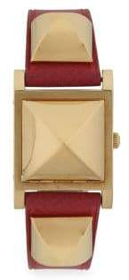 Vintage Square Leather-Strap Watch