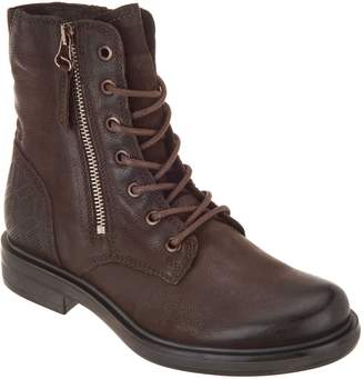 Miz Mooz Leather Lace-Up Ankle Boots - Charlie