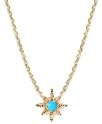 Anzie Aztec Starburst Pendant Necklace