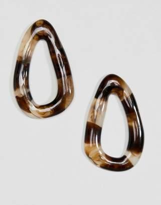 Weekday Tortoise Shell Drop Earrings