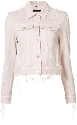 J Brand distressed Harlow denim jacket