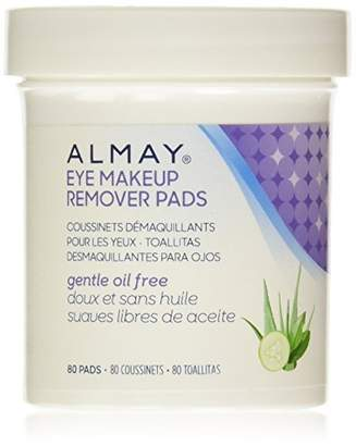 Almay Oil Free Eye Makeup Remover Pads, 80 Count by