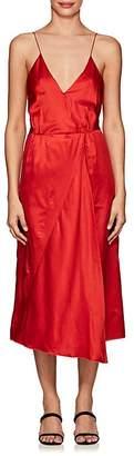 Masscob Women's Cotton-Silk Satin Tank Midi-Dress