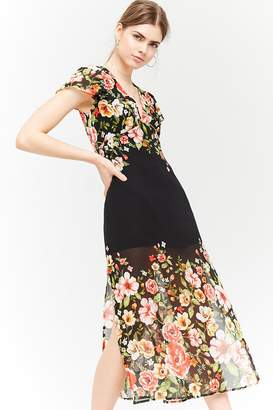 Forever 21 Floral Chiffon Dress