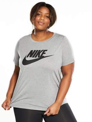 Nike Essential Logo T-Shirt (Plus Size) - Grey