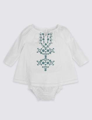 Marks and Spencer Embroidered Woven Top & Knickers Outfit