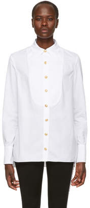 Balmain White Button-Up Shirt