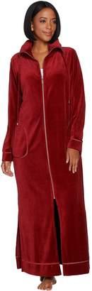 Bob Mackie Bob Mackie's Knit Velour Zip Front Robe