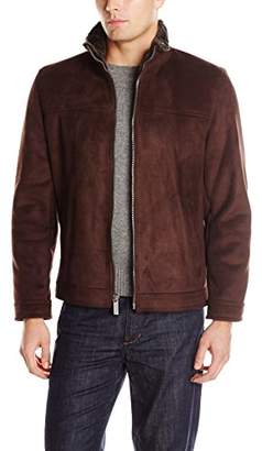 Nautica Men's Faux Shearling Open Bottom Coat