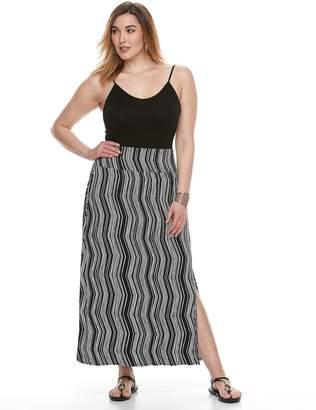 Apt. 9 Plus Size Tummy Control Maxi Skirt