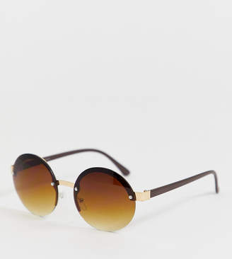 Glamorous Exclusive oversized round ombre lens sunglasses
