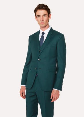 Paul Smith Men's Slim-Fit Forest Green Wool And Cashmere-Blend Blazer