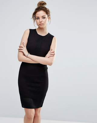 John & Jenn John + Jenn Mercedes Mesh Bodycon Dress