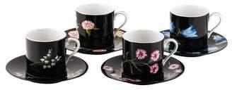 Tiffany & Co. 8-Piece Mrs. Delany's Flowers Demitasse Set