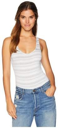 Michael Stars Kali Stripe Sleeveless Bodysuit Women's Jumpsuit & Rompers One Piece
