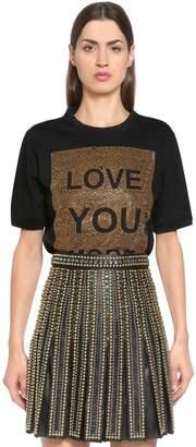 Elie Saab Love You More Embellished Jersey T-Shirt