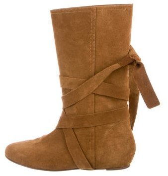 Michael Kors Suede Round-Toe Boots