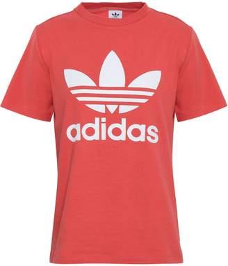 adidas (アディダス) - Adidas Originals プリント ストレッチジャージー Tシャツ