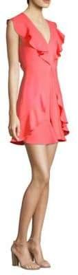 BCBGMAXAZRIA Eleeza Ruffle Mini Dress