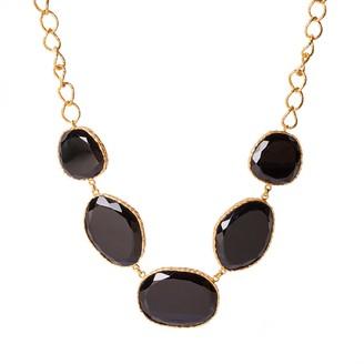 Christina Greene Statement Necklace in Black Onyx