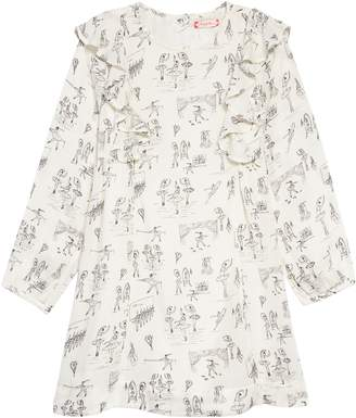Ruby & Bloom Ballet Print Ruffle Dress
