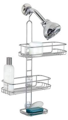 InterDesign Linea Adjustable Bathroom Shower Caddy for Shampoo, Conditioner, Soap - Silver