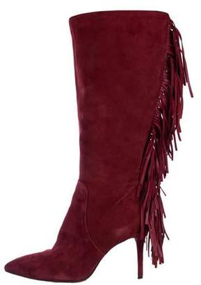 Brian Atwood Fringe Knee-High Boots