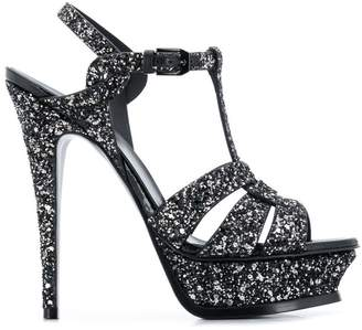 Saint Laurent glittery platform sandals