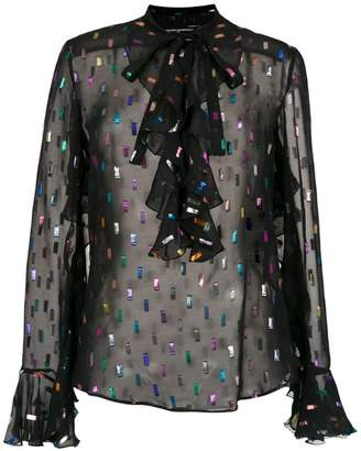Reinaldo Lourenço sheer embroidered shirt