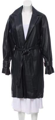 The Row Townley Leather Coat
