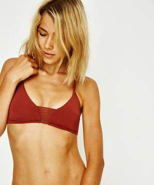 Seafolly Active Multi Rouleau Bralette Burnt Amber