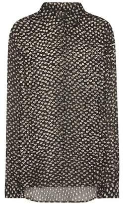 Saint Laurent Fil coupé silk shirt