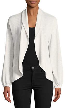 HIGHLINE COLLECTIVE Puff Sleeve Shawl Collar Cardigan