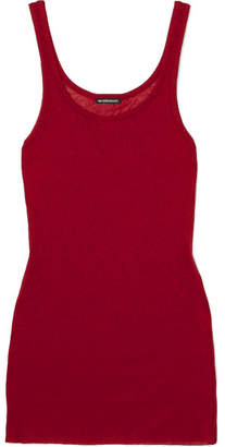 Ann Demeulemeester Ribbed Stretch-jersey Tank - Claret