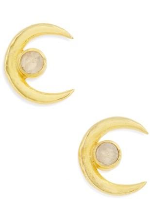 Women's Karen London Crescent Stud Earrings $75 thestylecure.com