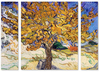 "Mulberry Trademark Global Vincent Van Gogh 'Mulberry Tree 1889' Multi Panel Art Set Large - 25"" x 30"" x 2"""