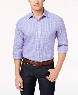 Club Room Men's Classic/Regular Fit Bold Gingham Dress Shirt, Created for Macy's